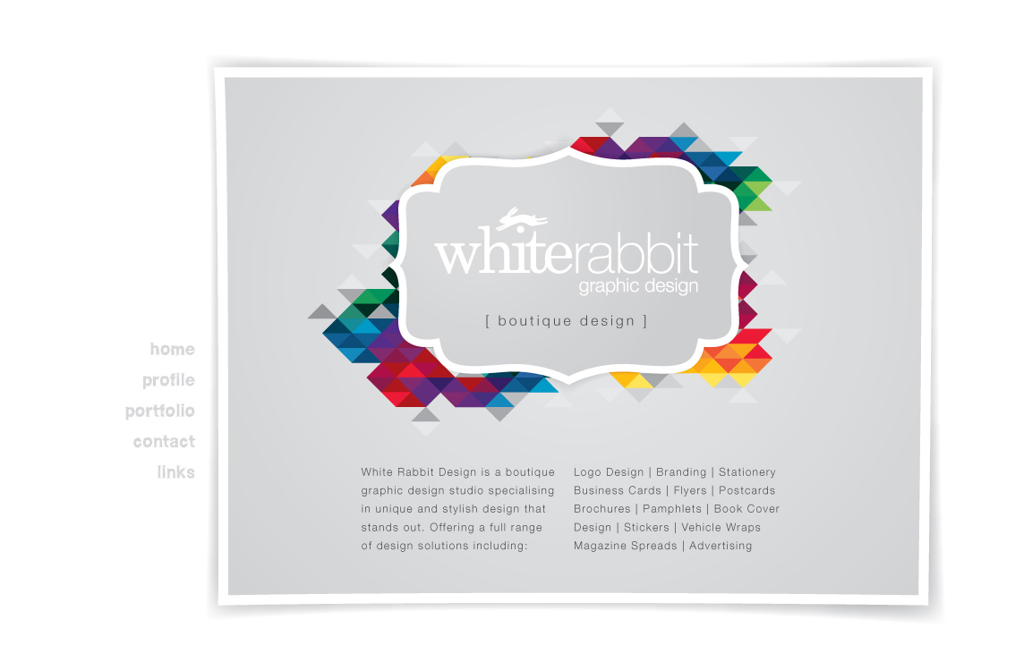 white rabbit graphic design ]